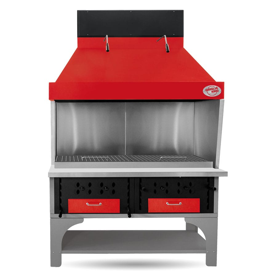 Double charcoal grill for restaurants and steakhouses
