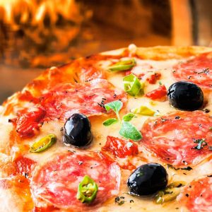 Crunchiness of wood-fired pizza
